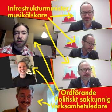 Digital fika med Infrastrukturministern